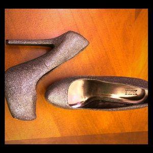 XXI gunmetal sparkly heels